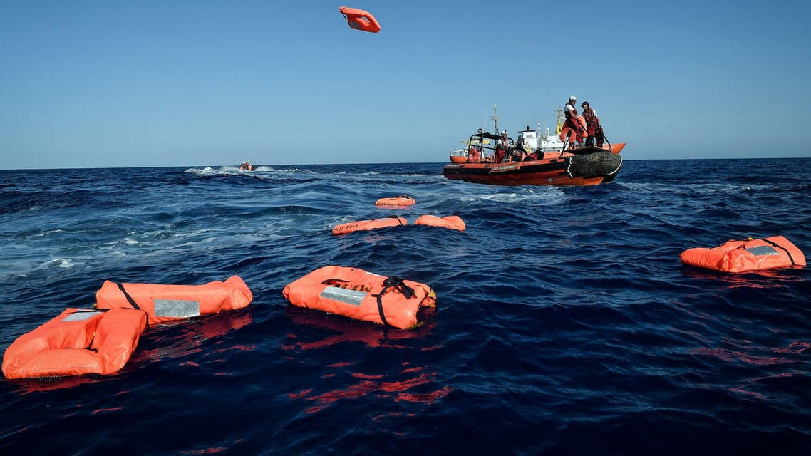 Sixty-three migrants are missing after the inflatable boat they were on sunk off the coast of Libya AFP