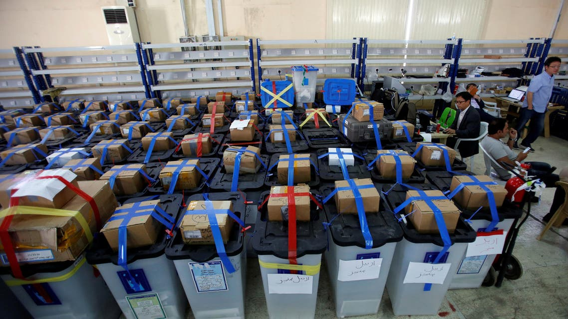 iraq ballot boxes. (File photo: Reuters)