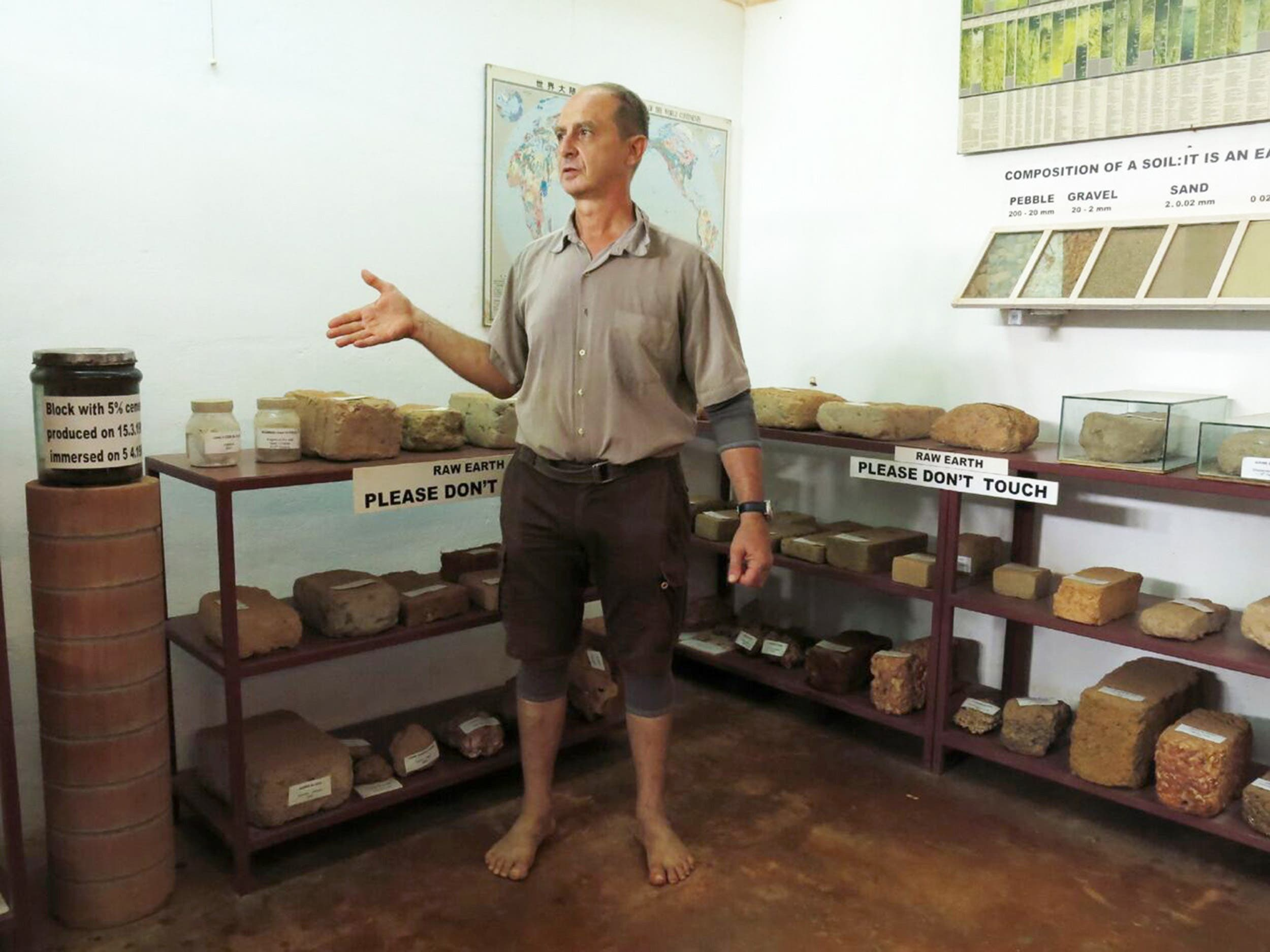 Auroville Earth Institute educates people about ways to explore the earthen techniques to build their habitats. (Supplied)