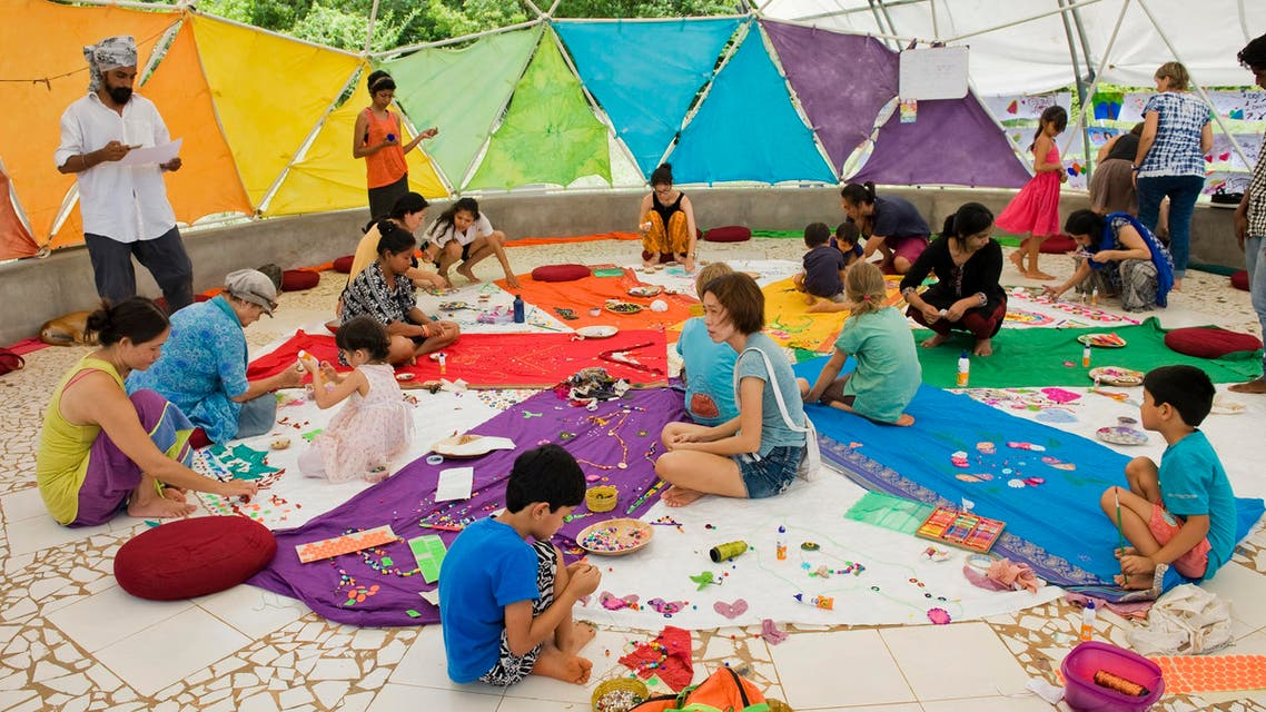 Aurovilians take part in functioning as an art therapy and creative empowerment endeavor. (Supplied)