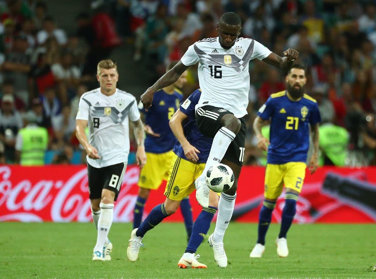 Germany's Antonio Rudiger in action. (Reuters)