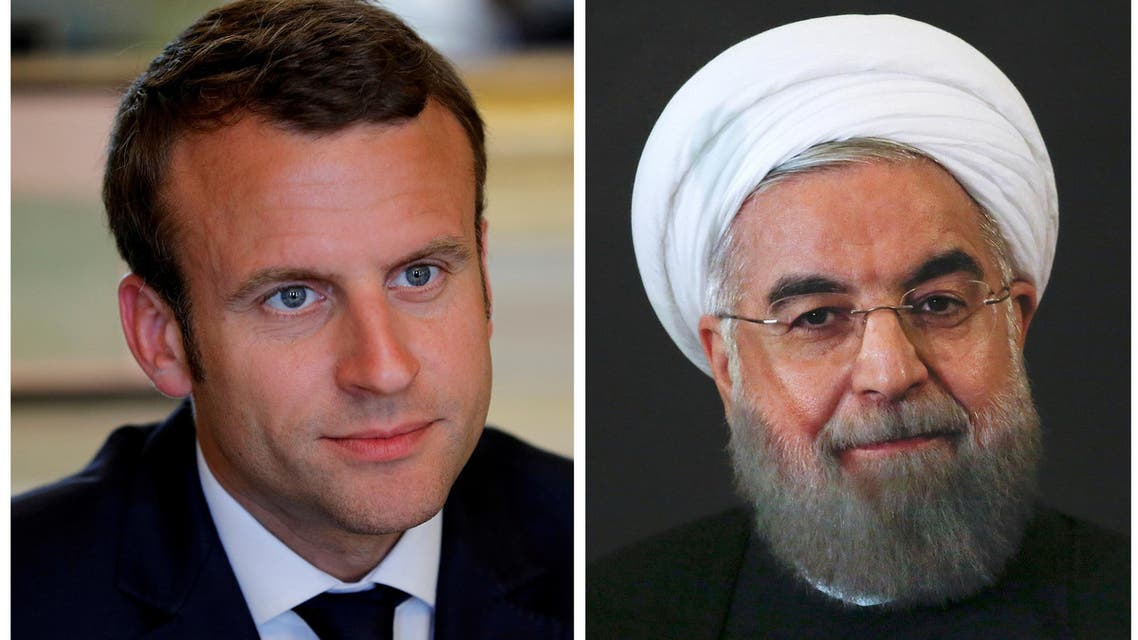 Rouhani and Macron (Reuters)