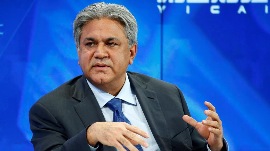 Arif Naqvi at the annual meeting of the World Economic Forum in Davos, on January 17, 2017. (Reuters)