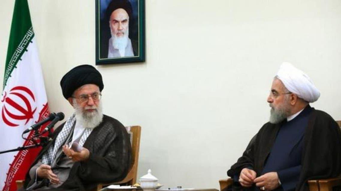 حسن روحانی رئیسجمهوری ایران و علی خامنهای رهبر این کشور