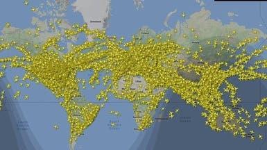 صور.. هذه سماء اليوم الأكثر ازدحاما في تاريخ الطيران