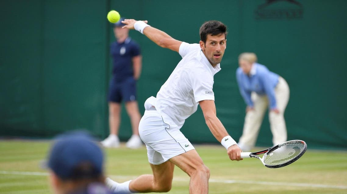 Serbia's Novak Djokovic in action during the second round match against Argentina's Horacio Zeballos. (Reuters)