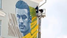 Neymar joins Messi and Ronaldo in Kazan mural club