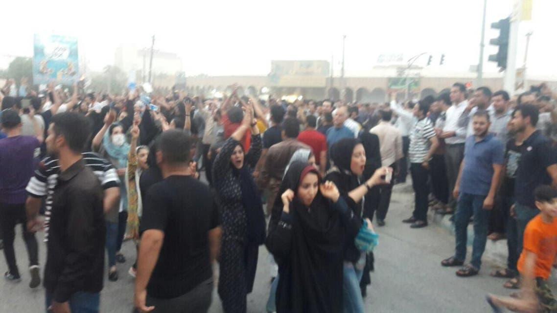 إيران مظاهرات الأهواز المحمرة