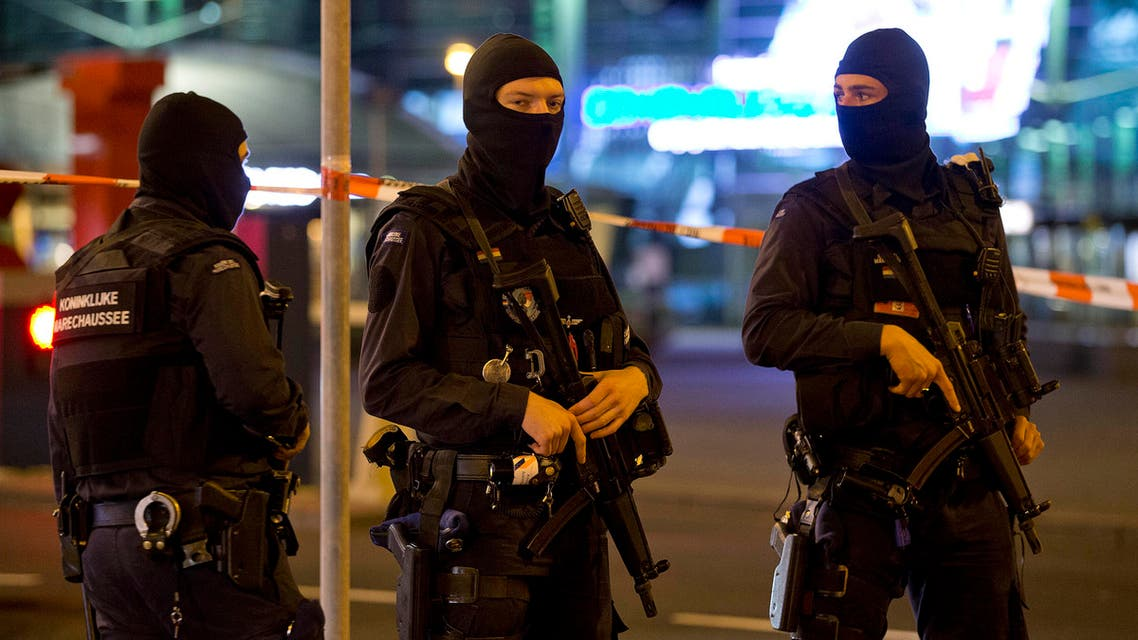 FILE - This is a Wednesday, April 13, 2016 file photo of hooded military police officers guard a part of Schiphol Aiport in Amsterdam, Netherlands. Dutch authorities said Thursday. (AP)