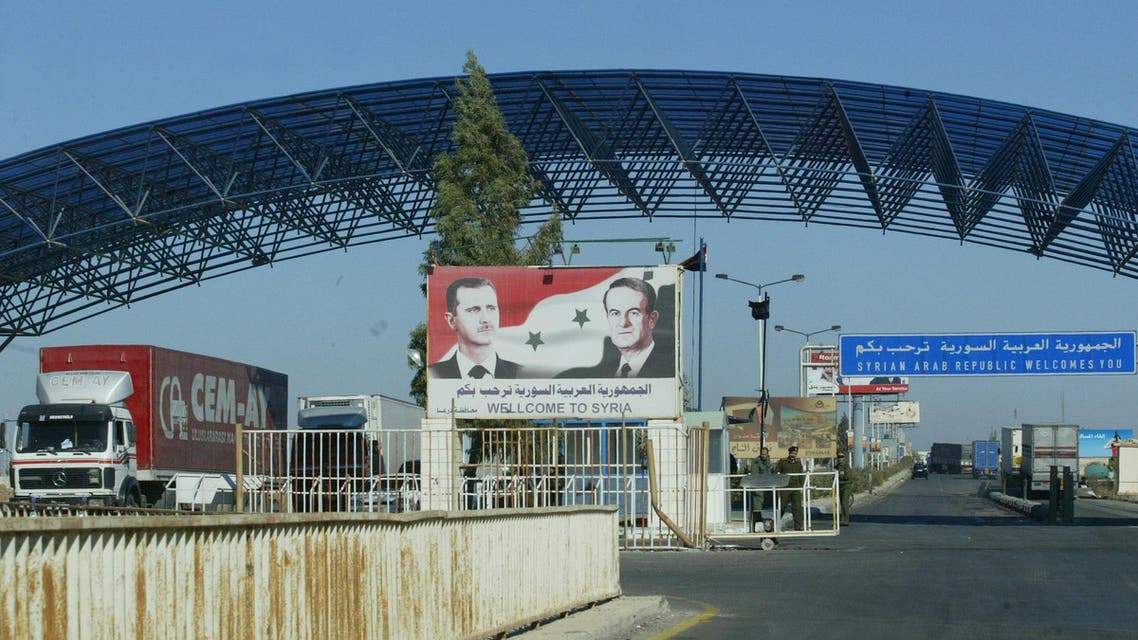 syria nassib border post (AFP)