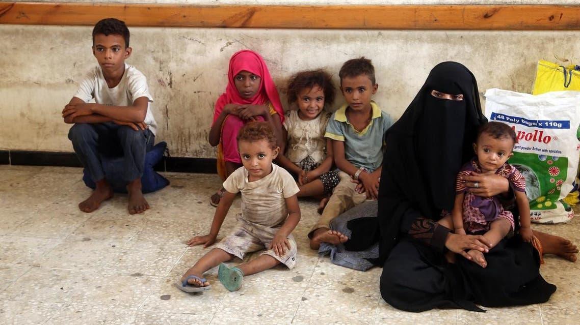 Yemeni displaced family from Hodeidah (Supplied)