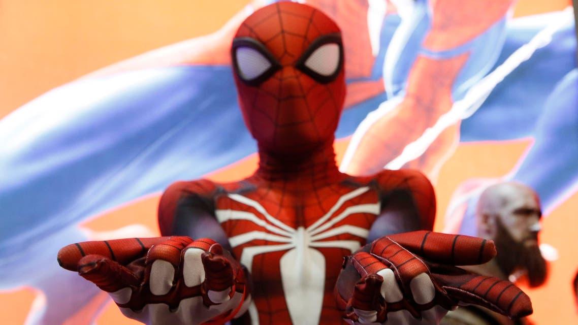 man dressed as spiderman (AP)