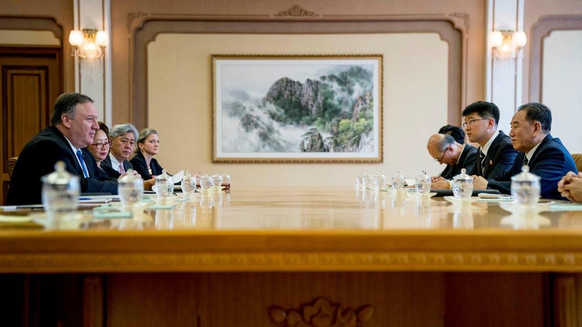 Pompeo N.Korea talks (Reuters)