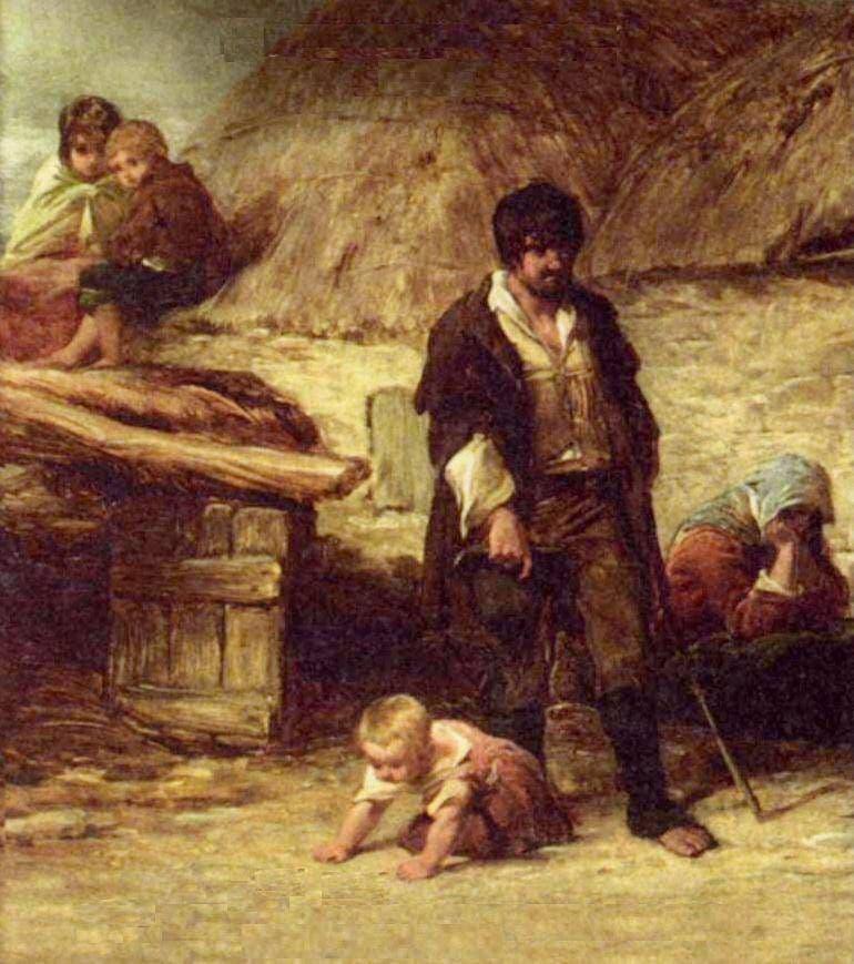 لوحة زيتية تجسد معاناة الفرنسيين من الفقر قبل الثورة