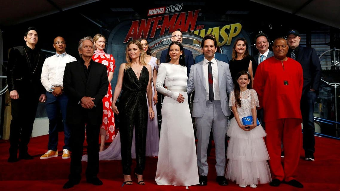 """Cast members and crew attend the premiere of the movie """"Ant-Man and the Wasp"""" starring Paul Rudd and Evangeline Lilly, in Los Angeles on June 25, 2018. (Reuters)"""