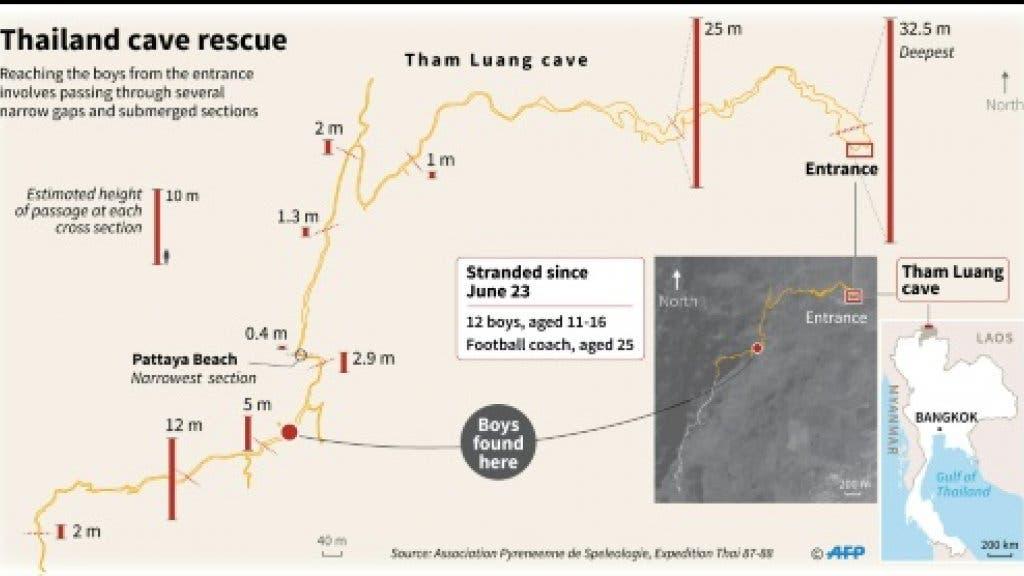 Thai cave diagram (AFP)
