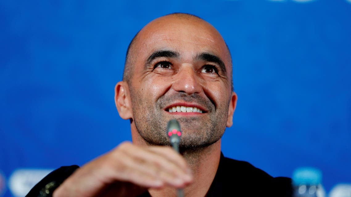 Belgium coach Roberto Martinez during the press conference. (Reuters)