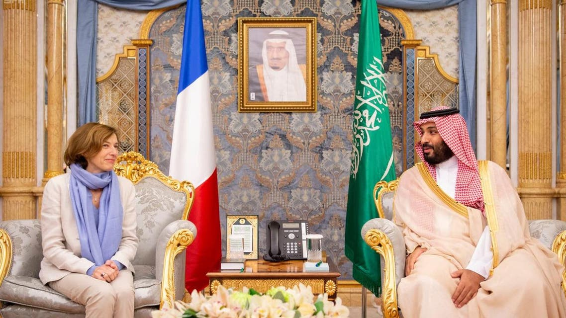 Saudi Crown Prince meets with French Minister of the Armed Forces