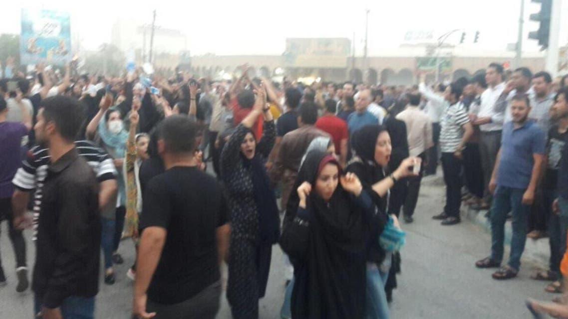 iran women protesting (supplied)