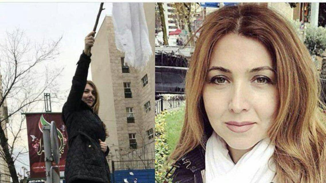 """Shapark Shajarizadeh posted on her personal website that she had been jailed for """"opposing the compulsory hijab"""". (Twitter)"""