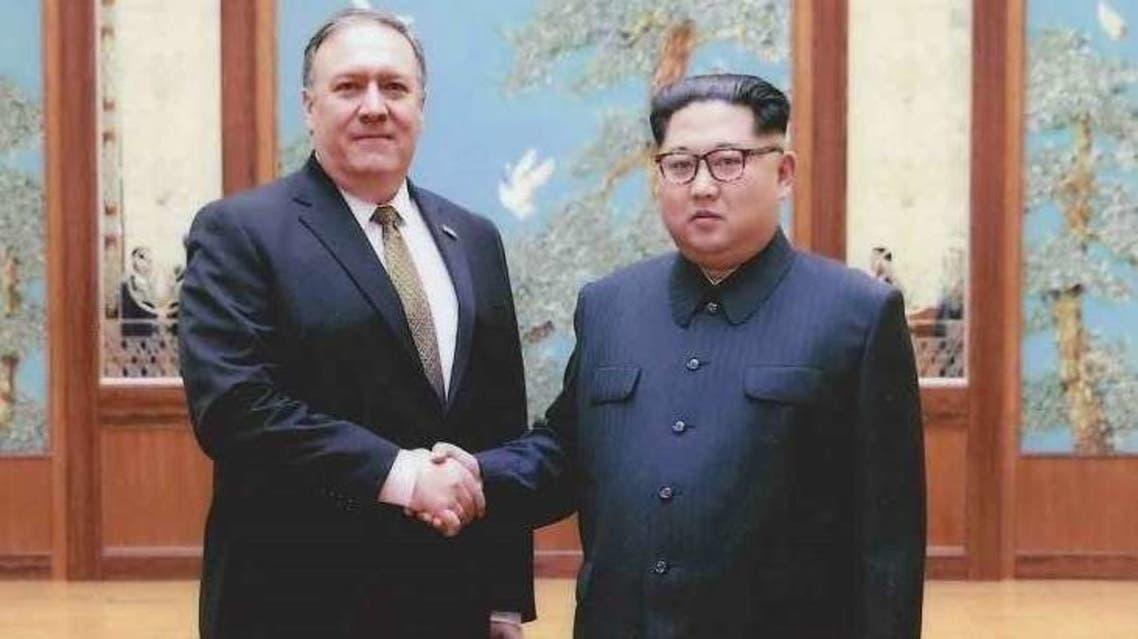 اجتماع سابق بين كيم وبومبيو في بيونغ يانغ قبيل قمة سنغافورة
