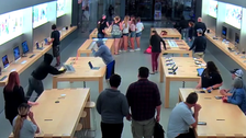 WATCH: $27,000 worth of goods gets stolen from California Apple store in seconds