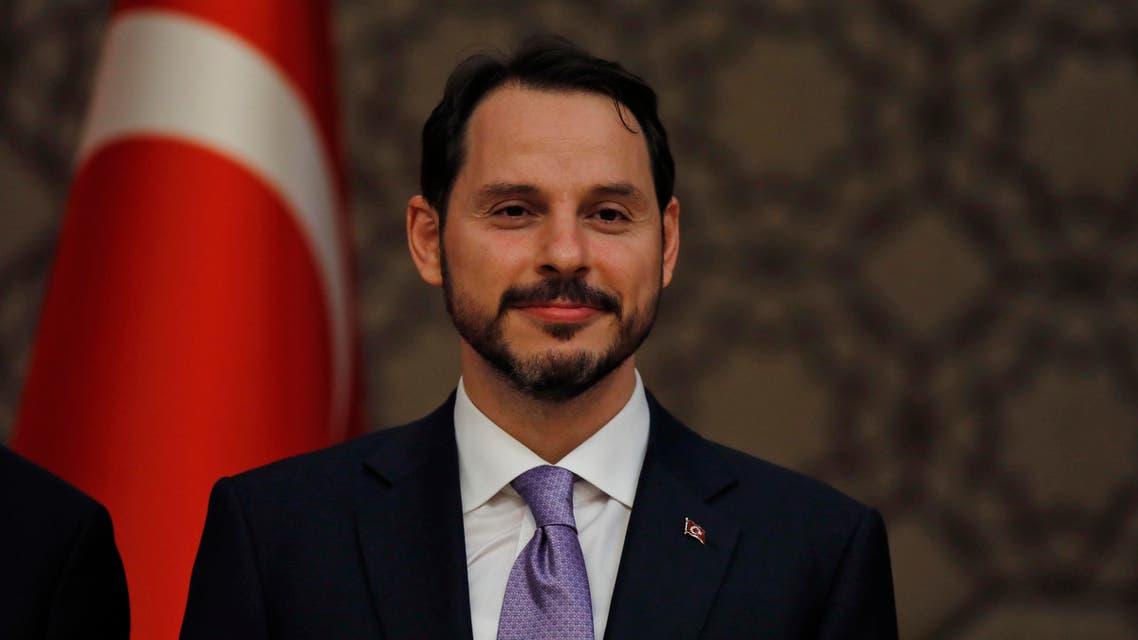 Turkey finance minister Albayrak. (AP)