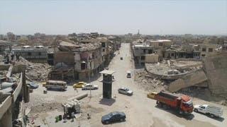 شاهد من الجو الدمار الهائل في الموصل بعد عام على استعادتها