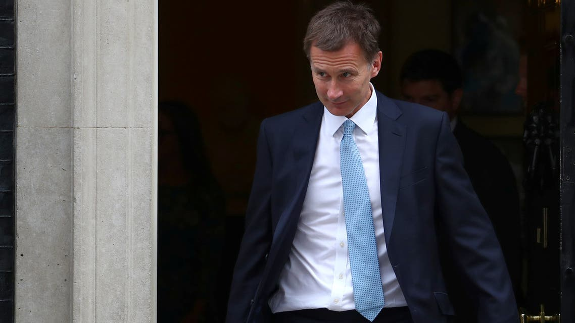 Britain's Secretary of State for Foreign and Commonwealth Affairs Jeremy Hunt leaves Downing Street after this morning's cabinet meeting in Westminster, London, Britain, July 10, 2018. REUTERS/Simon Dawson