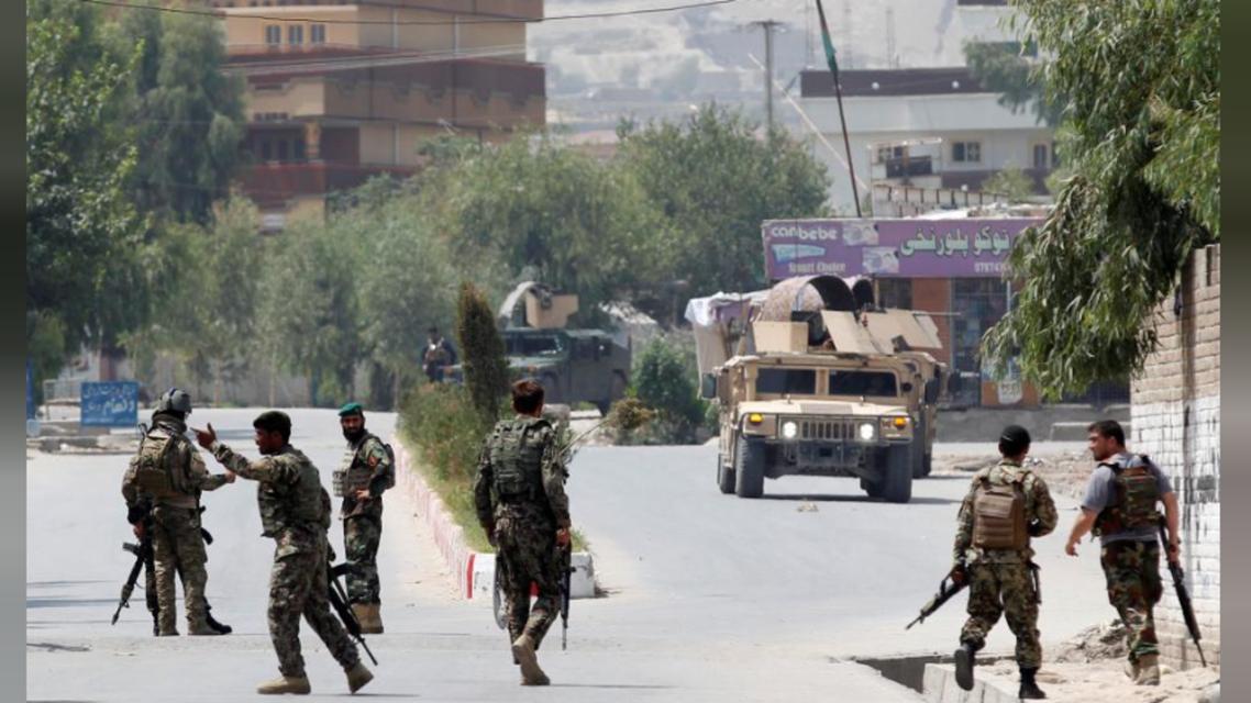 نیروهای امنیتی در نزدیکی محل انفجار ننگرهار افغانستان