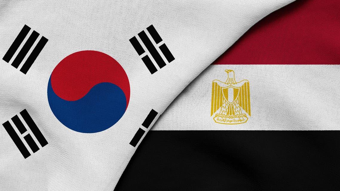 Egypt and South Korea flag (Shutterstock)