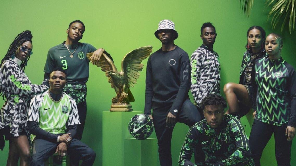 المجموعة الكاملة التي صممتها نايكي للفريق النيجيري