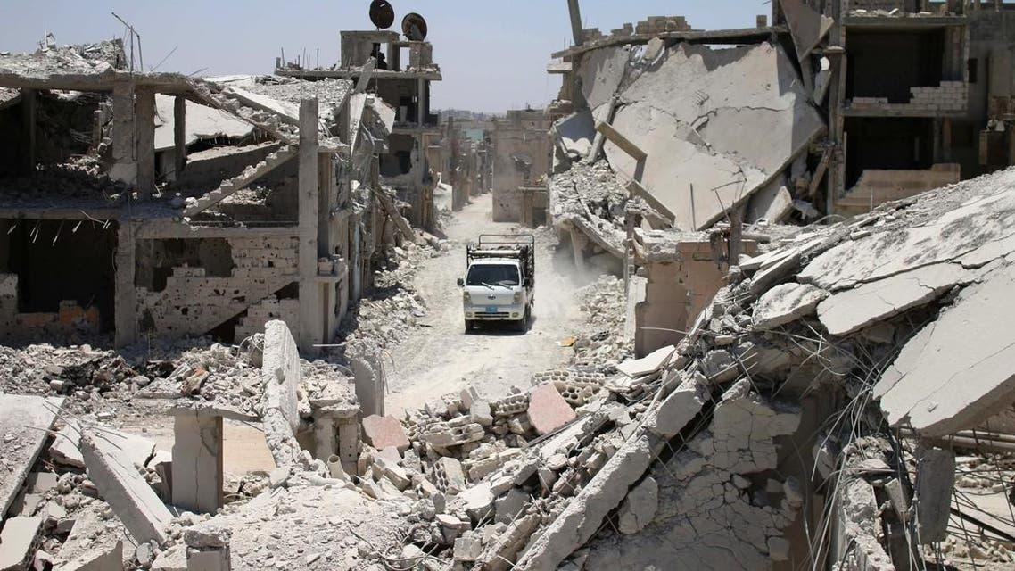 جانب من الدمار في درعا