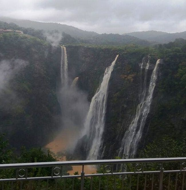 The main viewing area is in the heart of the town but one can also go to the other side from where the falls take the plunge. (Supplied)