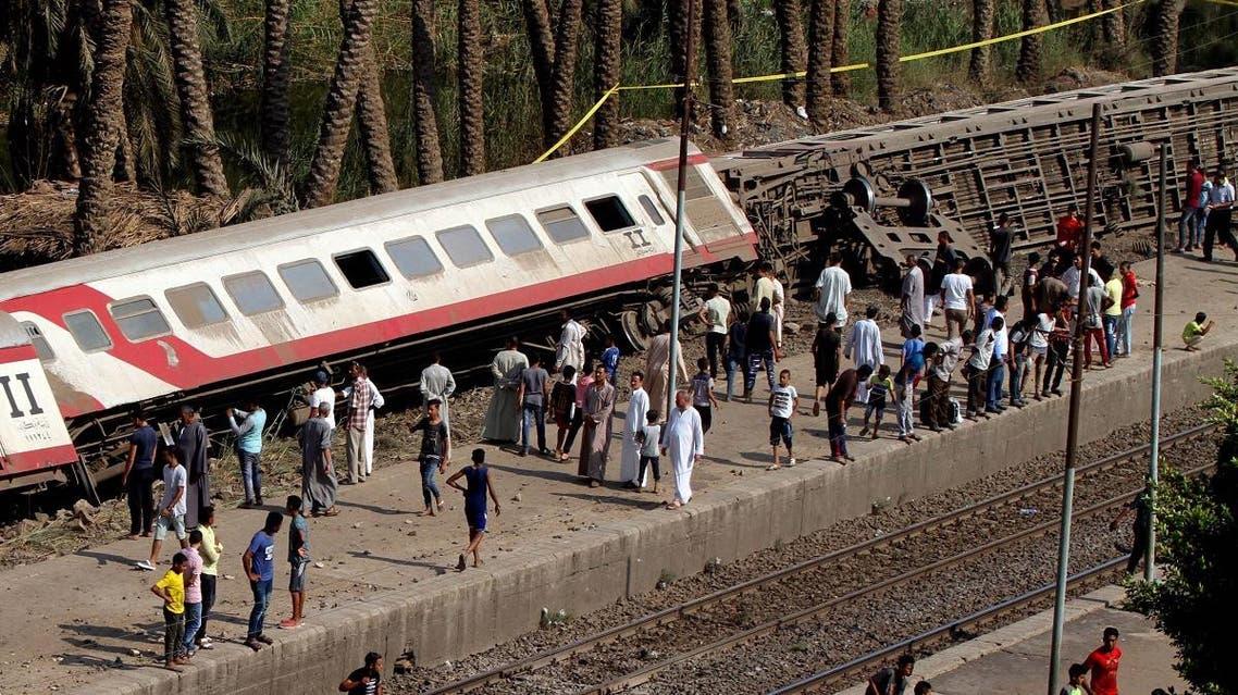 Egypt train derailed (AFP)