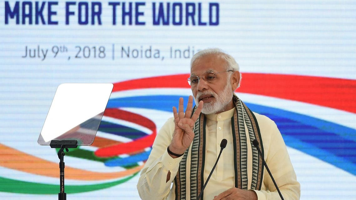 Prime Minister Modi's economic outlook is now a throwback to India's inward-looking policies of earlier years. (AFP)