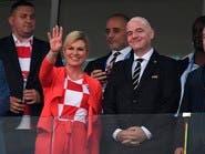 رئيسة كرواتيا الحسناء تنتظر النهائي بفارغ الصبر
