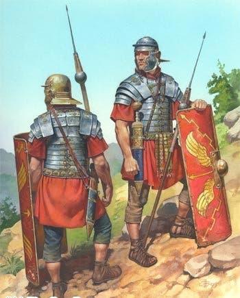 رسم تخيلي لعدد من الجنود الرومان