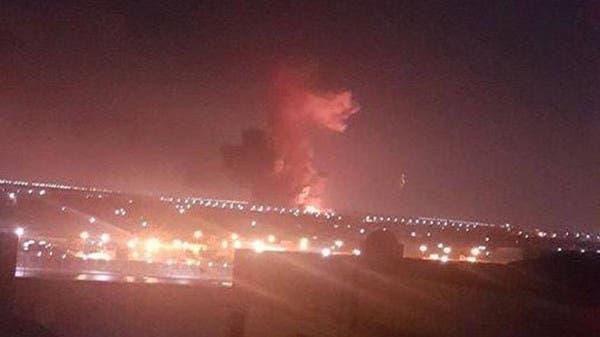 صورة تتناقلها مواقع التواصل عن الانفجار الذي وقع قرب مطار القاهرة