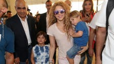 Watch: Shakira and son say 'Hello Lebanon' in Arabic over Beirut skies