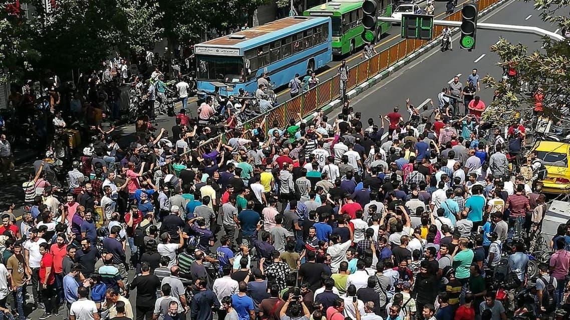 Iran protests (Screengrab)