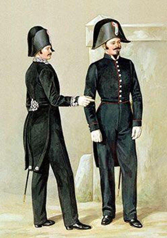 رسم تخيلي لزي أفراد شرطة باريس سنة 1829