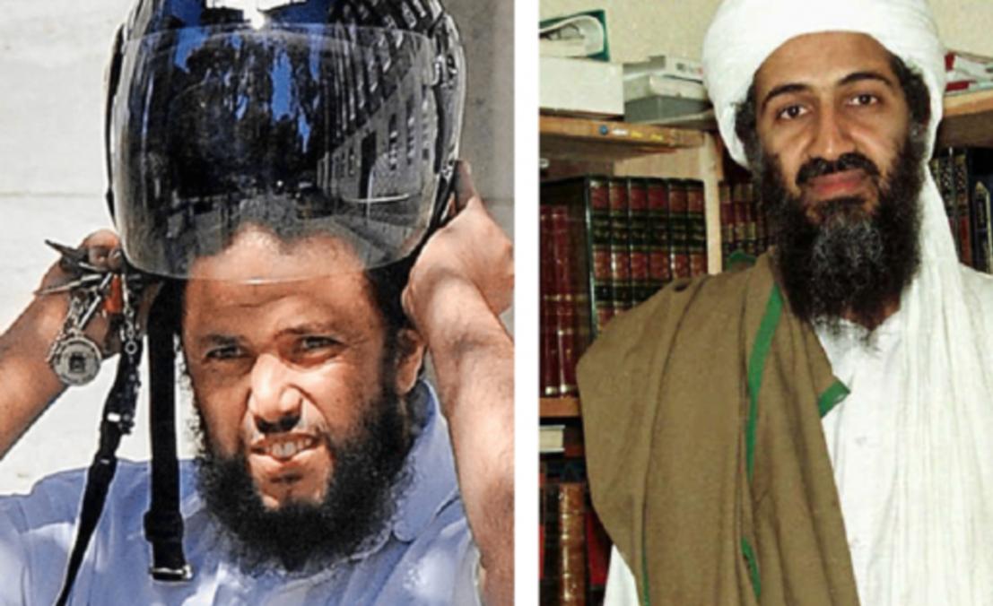 بن لادن وحارسه