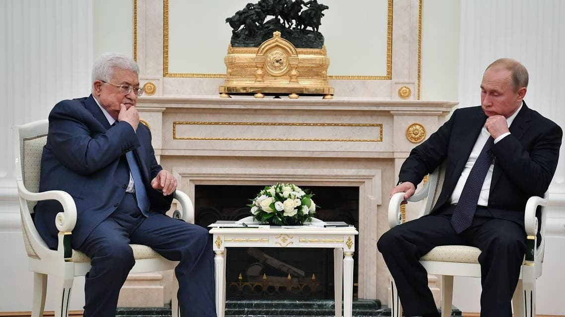 Abbas and Putin 2 in Moscow on Saturday July, 14 (AFP)