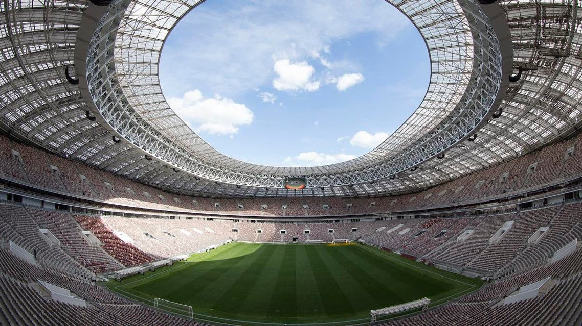 photo shows the refurbished Luzhniki stadium in Moscow, Russia, where the opening match and final of the World Cup (AP)