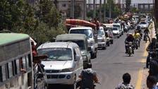 شام : درعا شہر سے باغیوں اور ان کے خاندانوں کے انخلا کا آغاز