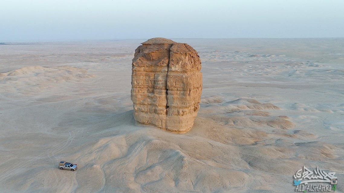 """The area where the """"desert cake"""" -- like many locals like to call it -- is located was considered among the integral trade routes in the Arabian Peninsula desert."""