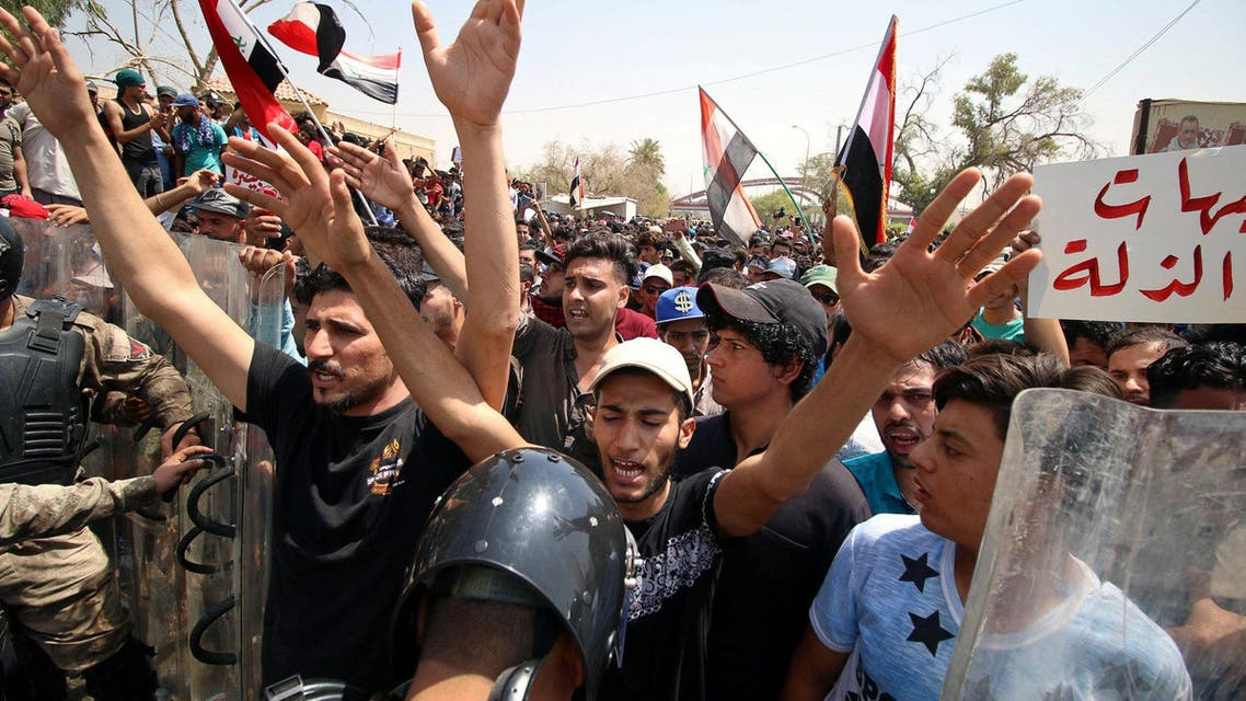 Basra protests Iraq. (Reuters)