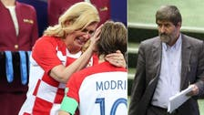 Iranian MP forced to justify Croatian president's World Cup hugs 'as non-sexual'