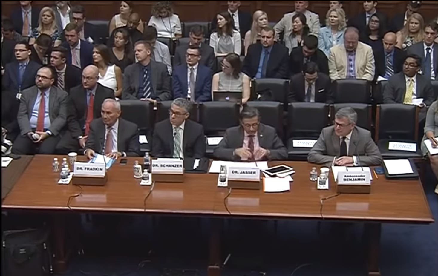 Panel of experts, including Jasser and Schanzer who spoke to Al Arabiya English, appear before the House Oversight National Security Subcommittee. (Supplied)